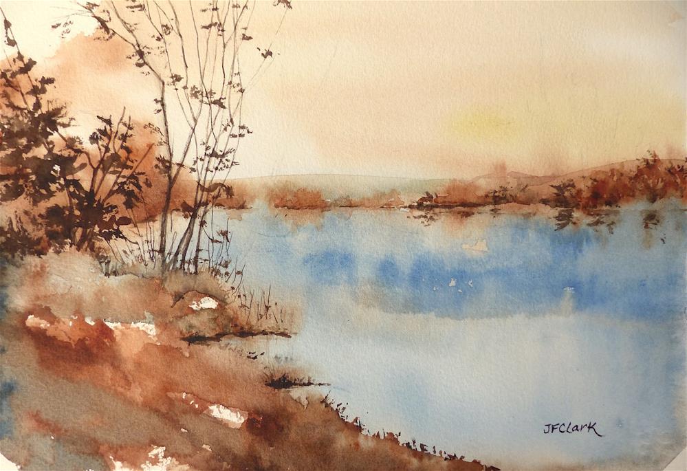 """Autumn Reflections"" original fine art by Judith Freeman Clark"