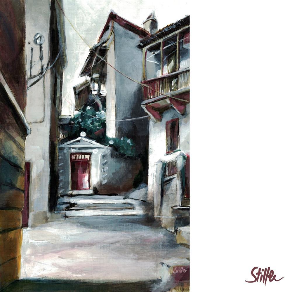 """""""3513 Greek Alley"""" original fine art by Dietmar Stiller"""