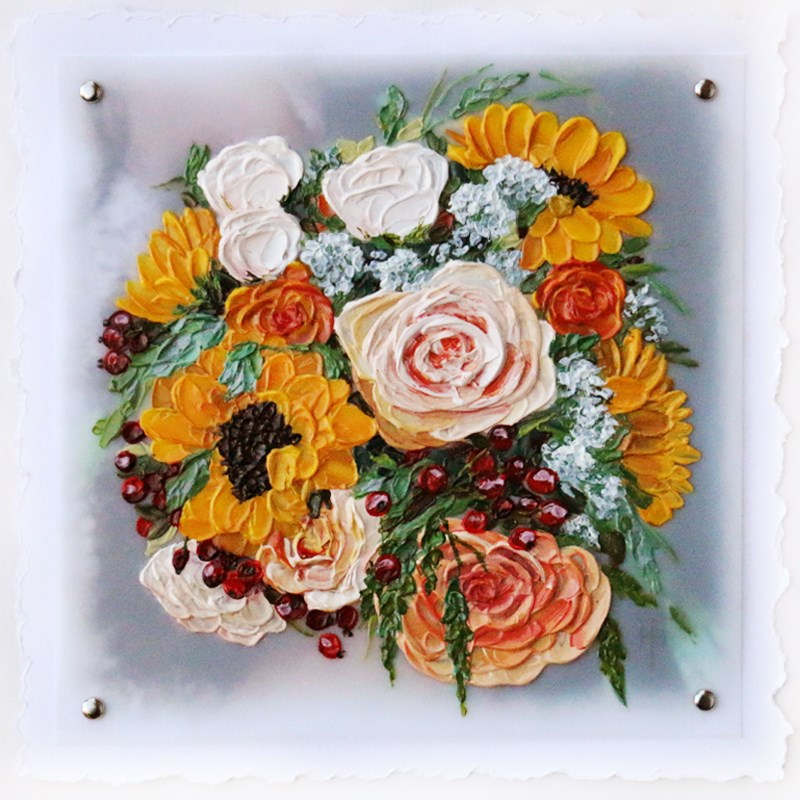 """Rachael's Renewing of Vows Bouquet"" original fine art by Terri Heinrichs"