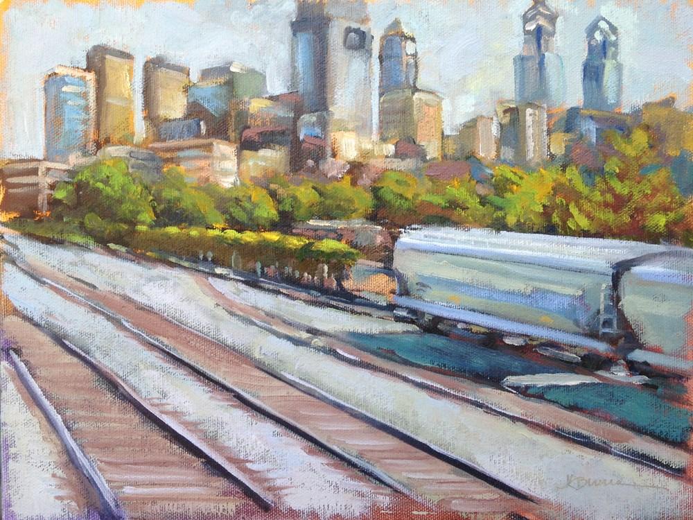 """""""Sidetracked"""" original fine art by Jeanne Bruneau"""
