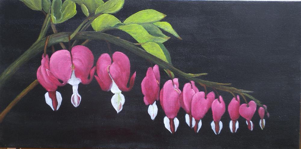 """Bleeding Hearts"" original fine art by Marti Idlet"