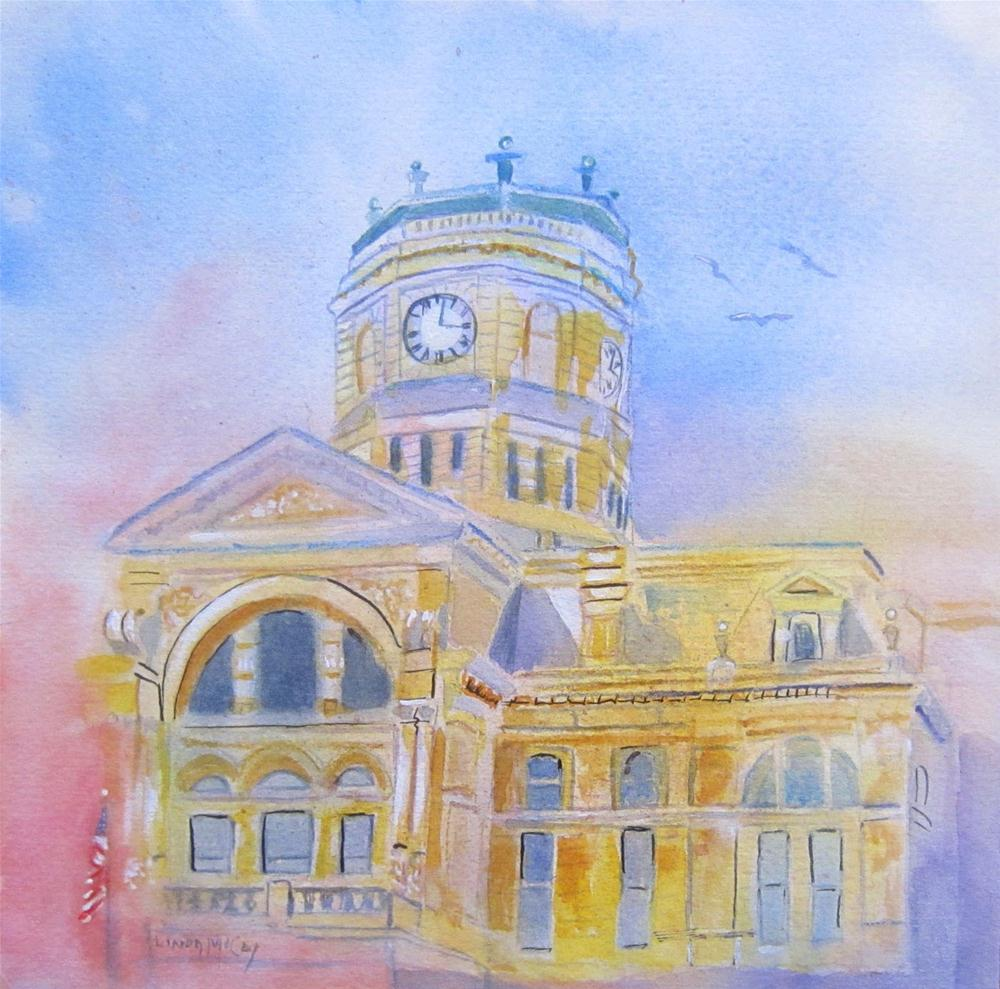"""Butler County Courthouse, Watercolor by Linda McCoy"" original fine art by Linda McCoy"
