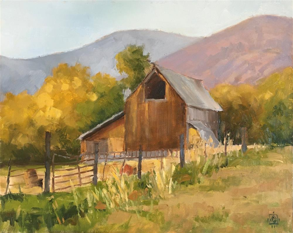 """Wellsville Barn"" original fine art by Carol Granger"