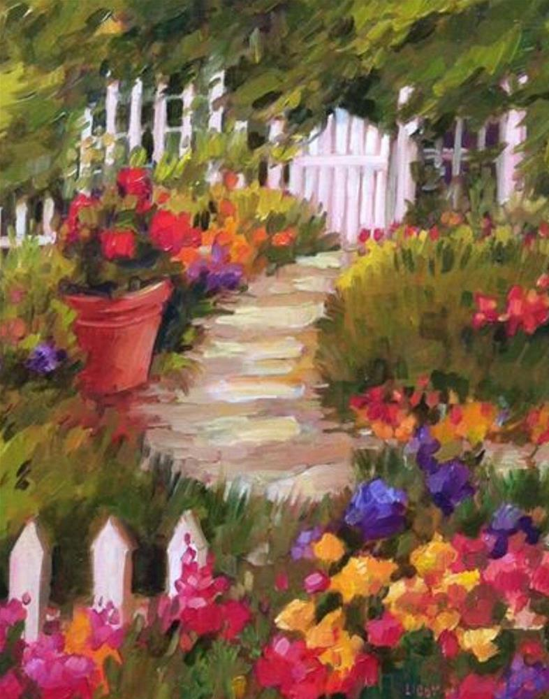 """""""Fenced In"""" original fine art by Libby Anderson"""