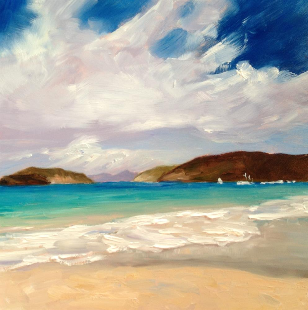 """Perfect Beach Day"" original fine art by Claudia L Brookes"