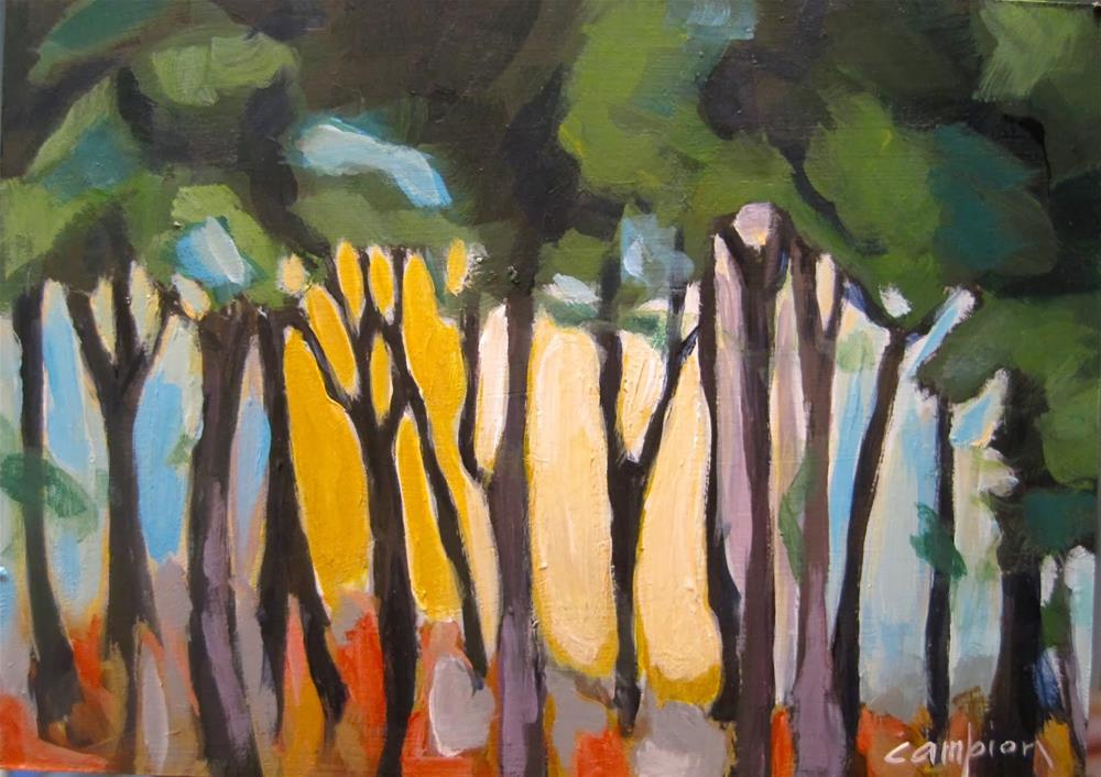 """""""258. Moving In a Little Closer"""" original fine art by Diane Campion"""