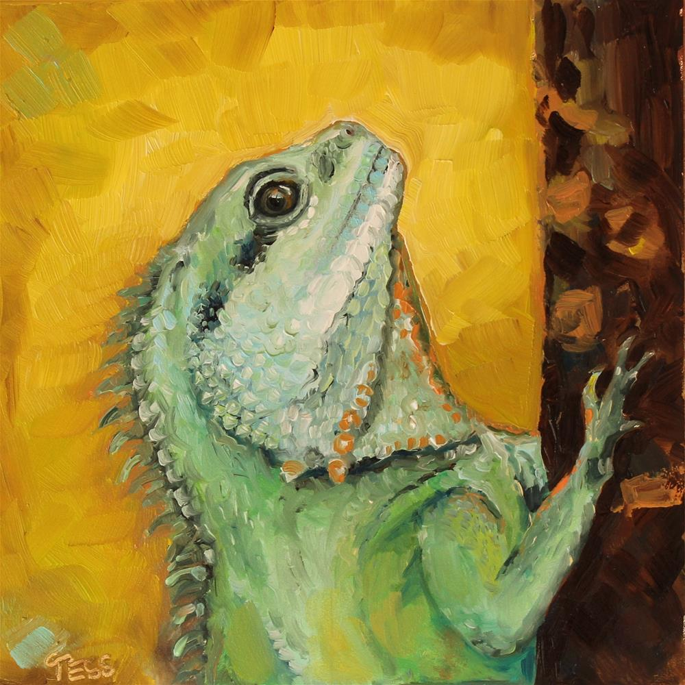 """Somebody's Watching Me- Rockwell"" original fine art by Tess Lehman"