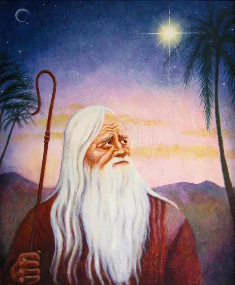 """He Saw a Great Light"" original fine art by Karen Roncari"