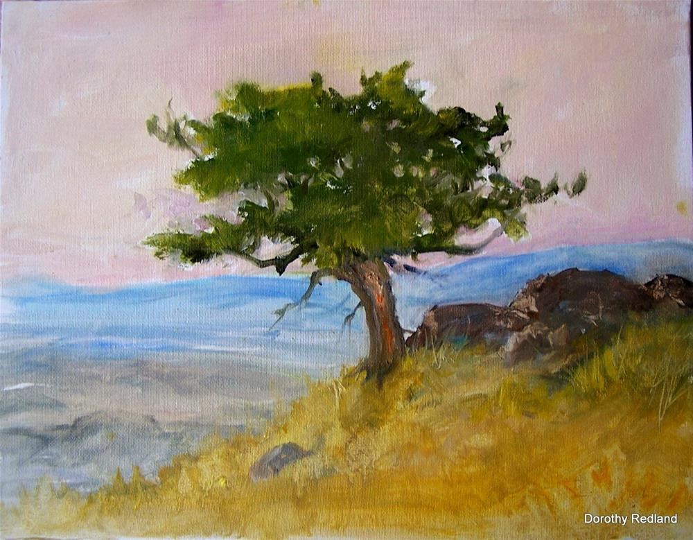"""""""On a high and windy hill"""" original fine art by Dorothy Redland"""