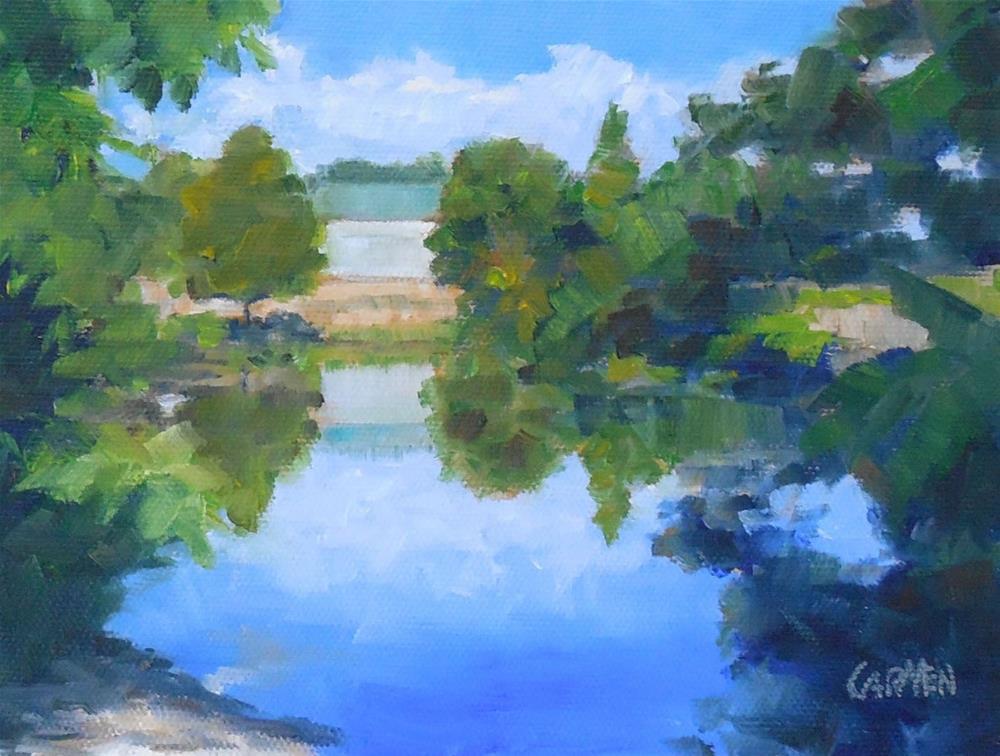 """Palma Sola, Original Oil Painting on Canvas Panel, Landscape"" original fine art by Carmen Beecher"