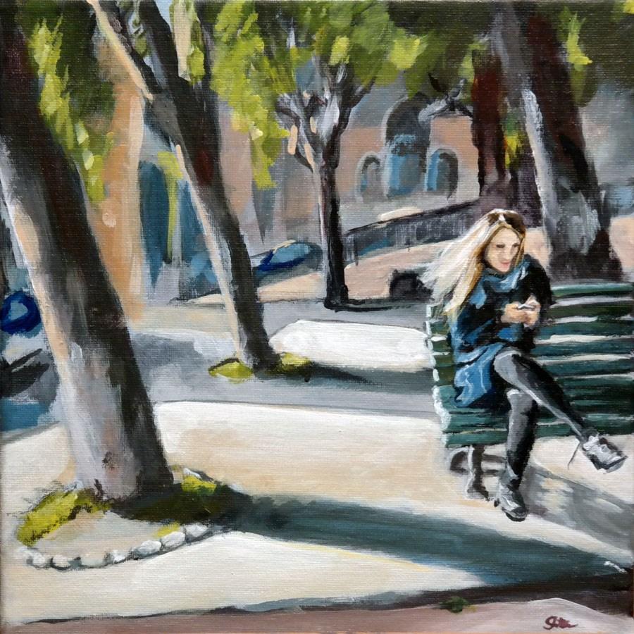 """""""1293 Park Text"""" original fine art by Dietmar Stiller"""