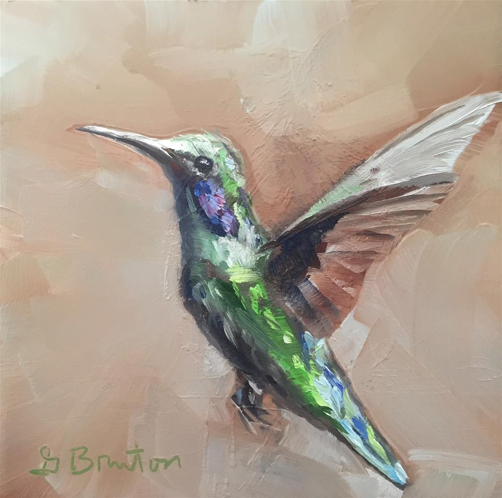 """Exotic Hummingbird"" original fine art by Gary Bruton"