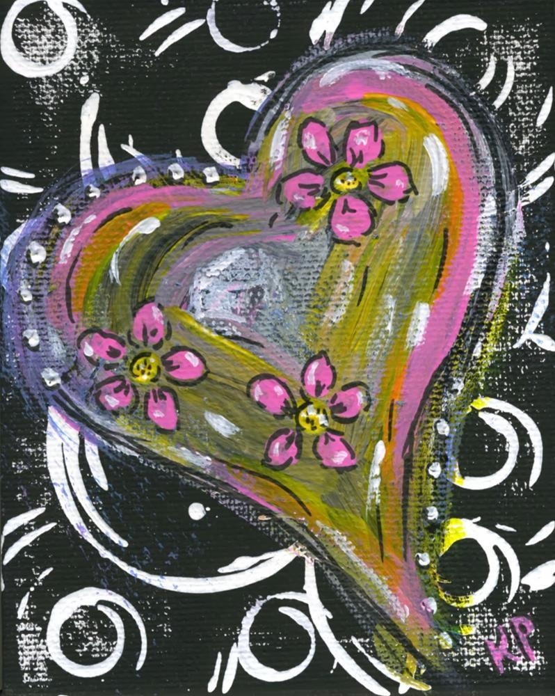 """Heart's Aswirl"" original fine art by Kali Parsons"