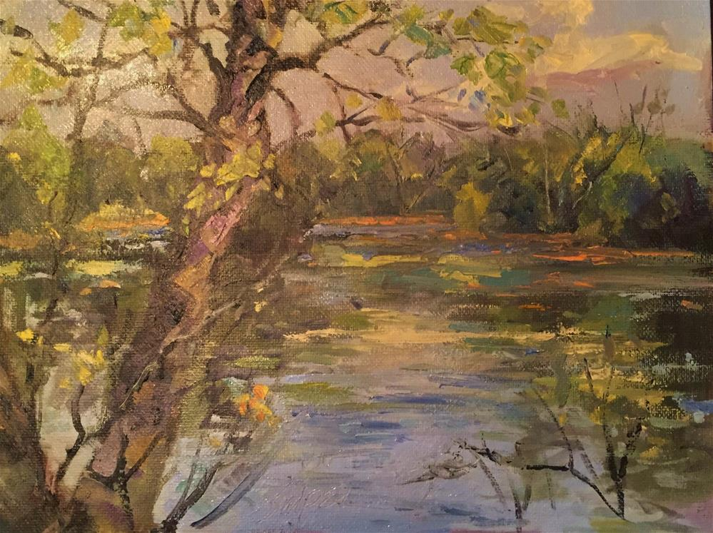 """""""Early Fall Afternoon"""" original fine art by Connie Snipes"""