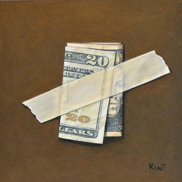 """Twenty Dollar Bill"" original fine art by Kim Testone"