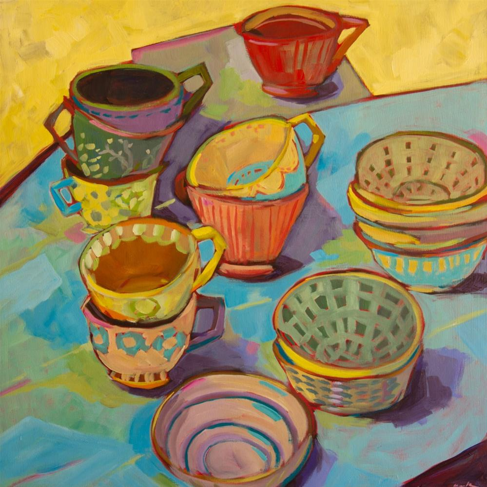 """Tea Party (#415)"" original fine art by Brian Miller"