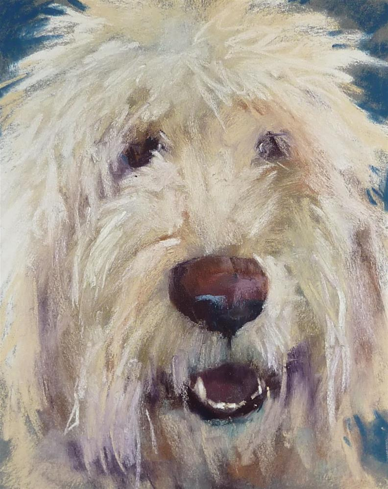 """Painting a Pet Portrait in Pastel"" original fine art by Karen Margulis"