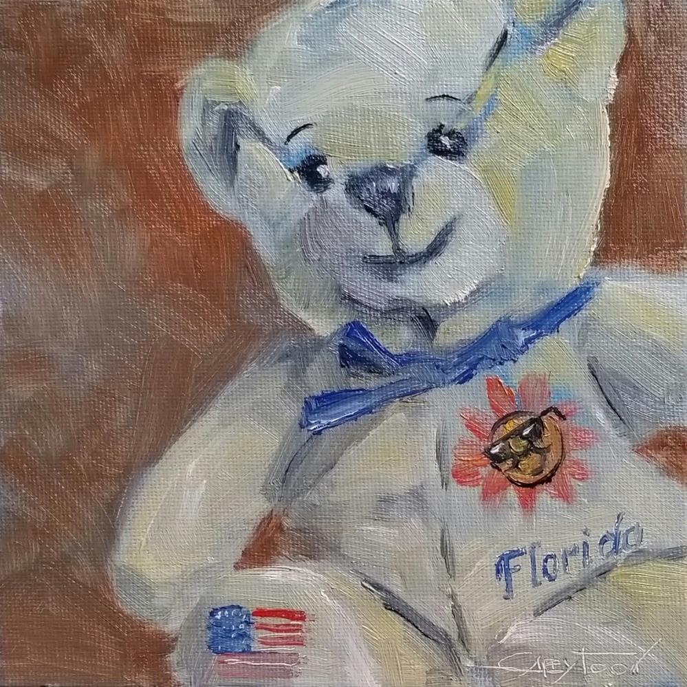 """A Florida Bear"" original fine art by Gabriella DeLamater"