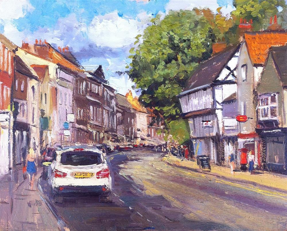 """Micklegate, York"" original fine art by Adebanji Alade"