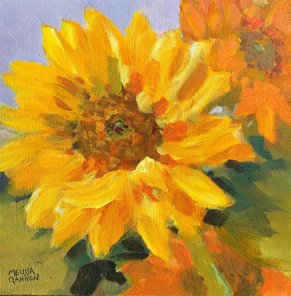 """""""Sunflower Hello"""" original fine art by Melissa Gannon"""