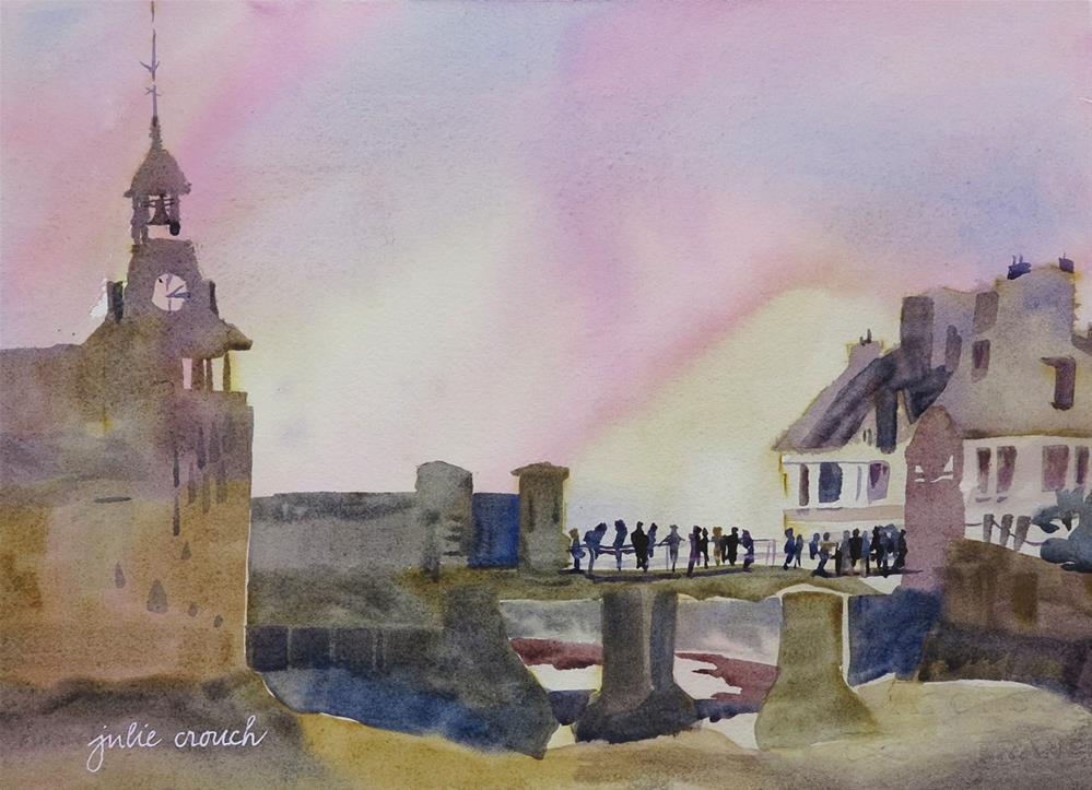 """The Drawbridge at Concarneau"" original fine art by Julie Crouch"