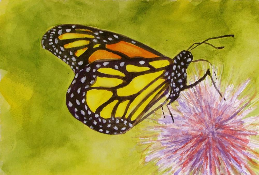 """Monarch#2"" original fine art by Christine Holzschuh"