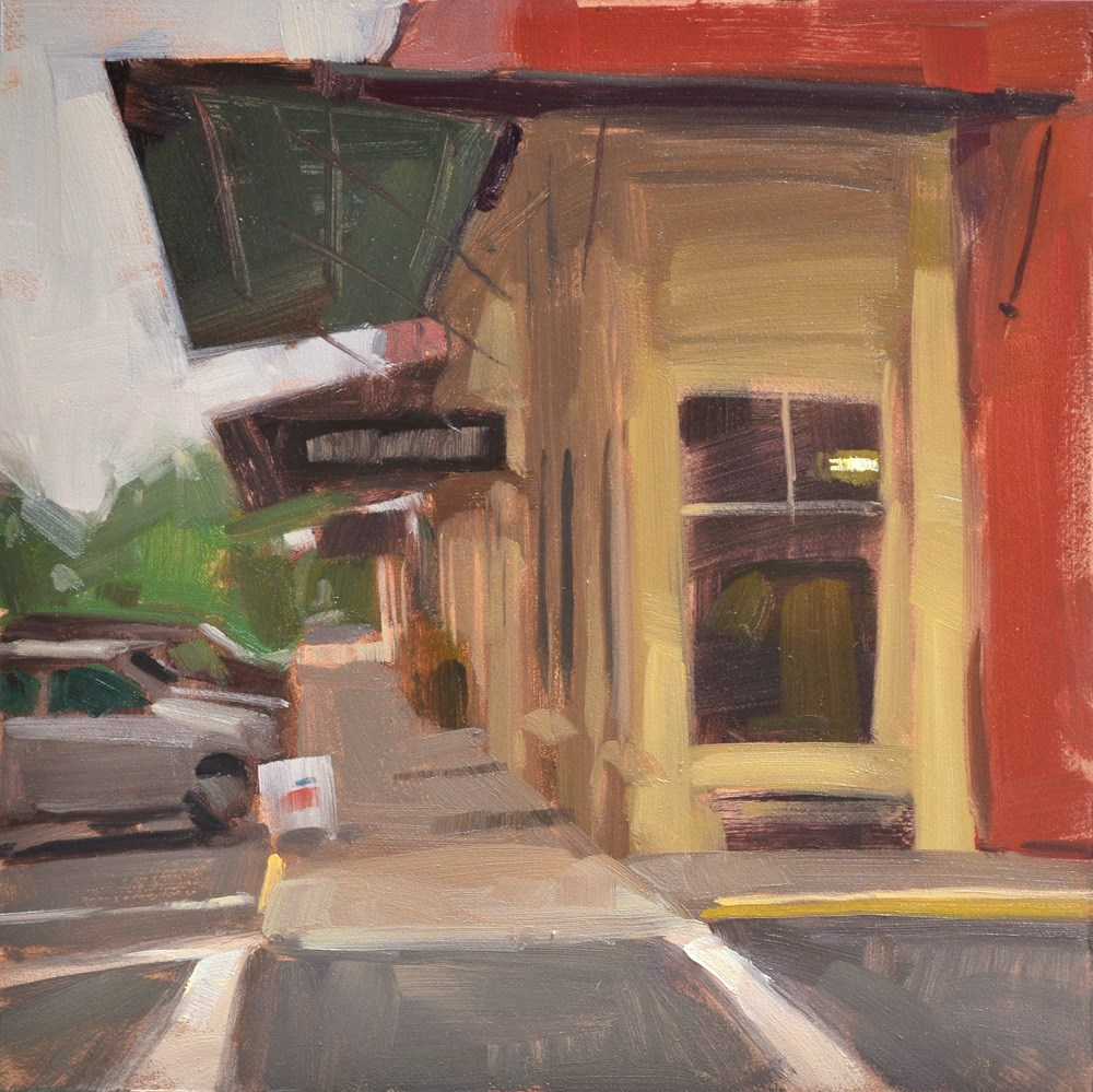 """Small Town Shops"" original fine art by Carol Marine"