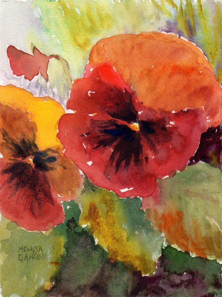 """Joyful Pansies"" original fine art by Melissa Gannon"