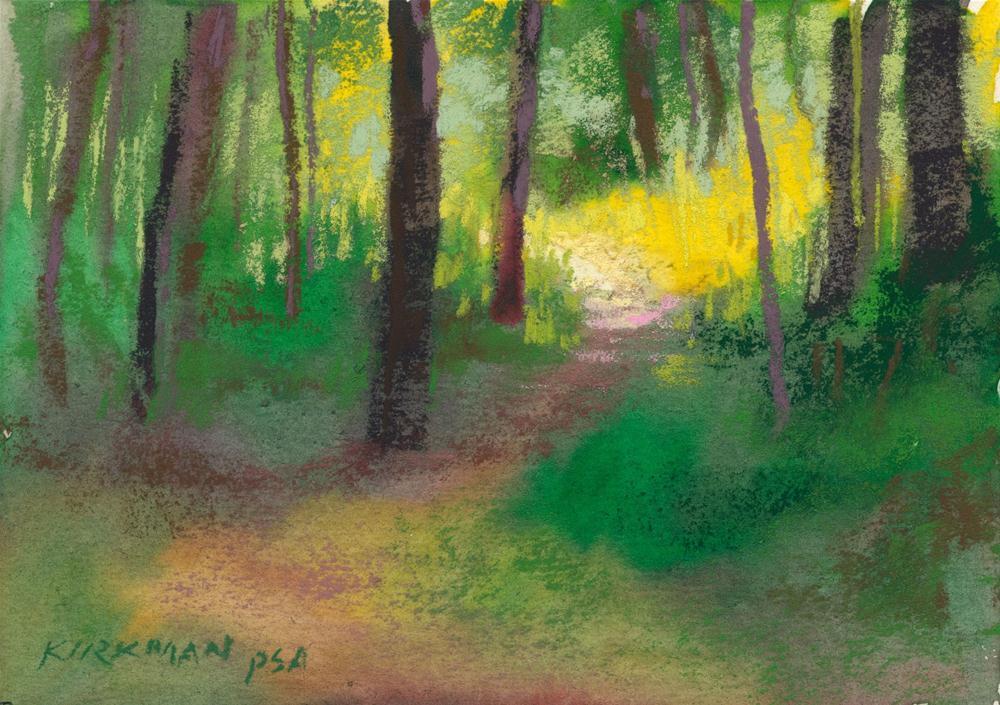"""""""Park Trail #19"""" original fine art by Rita Kirkman"""