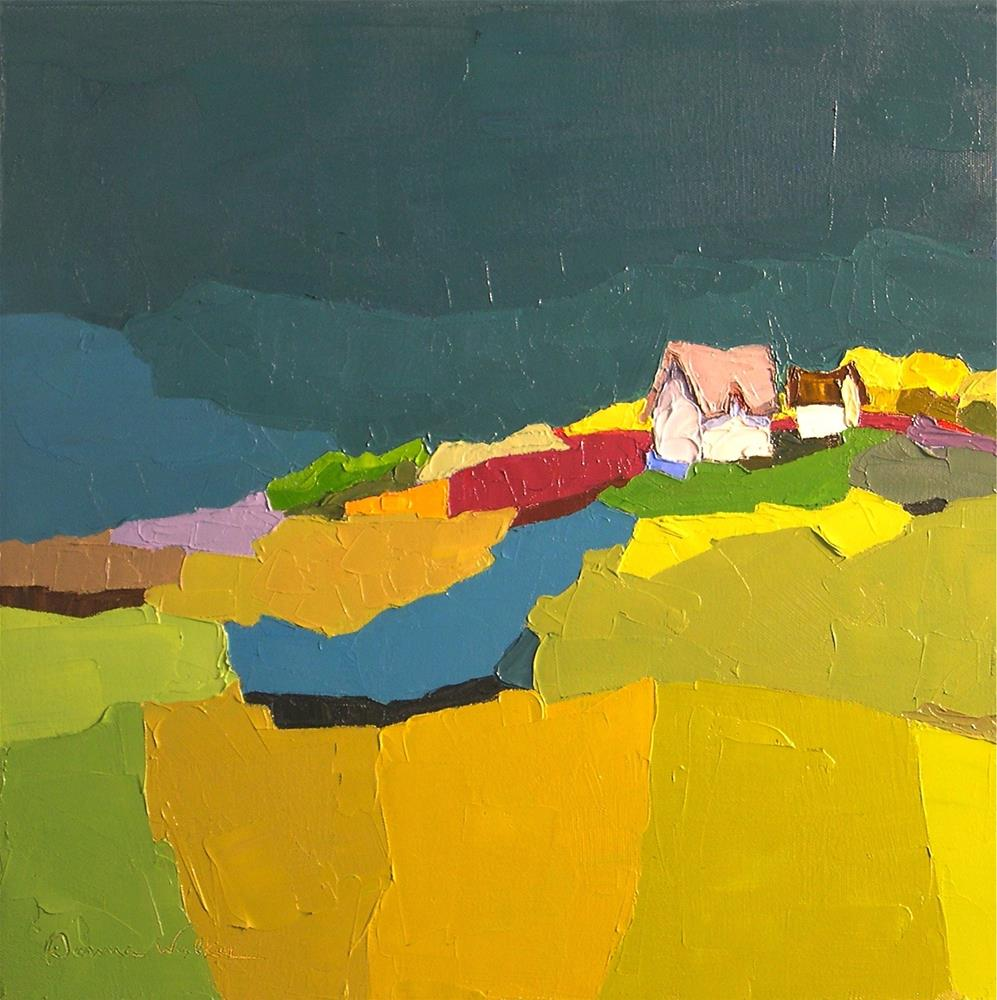 """Night Must Fall"" original fine art by Donna Walker"
