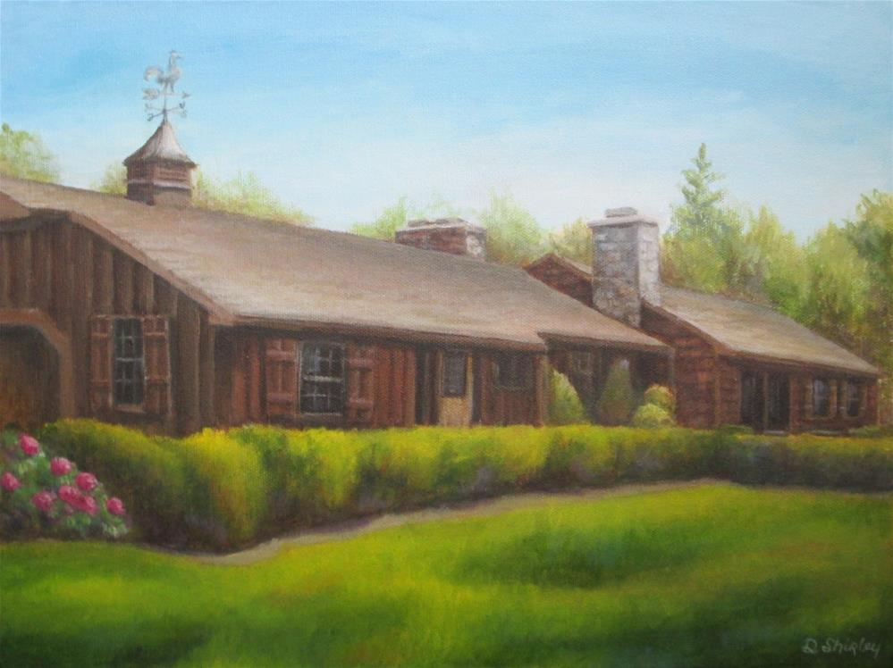 """Commissioned House Portrait"" original fine art by Debbie Shirley"
