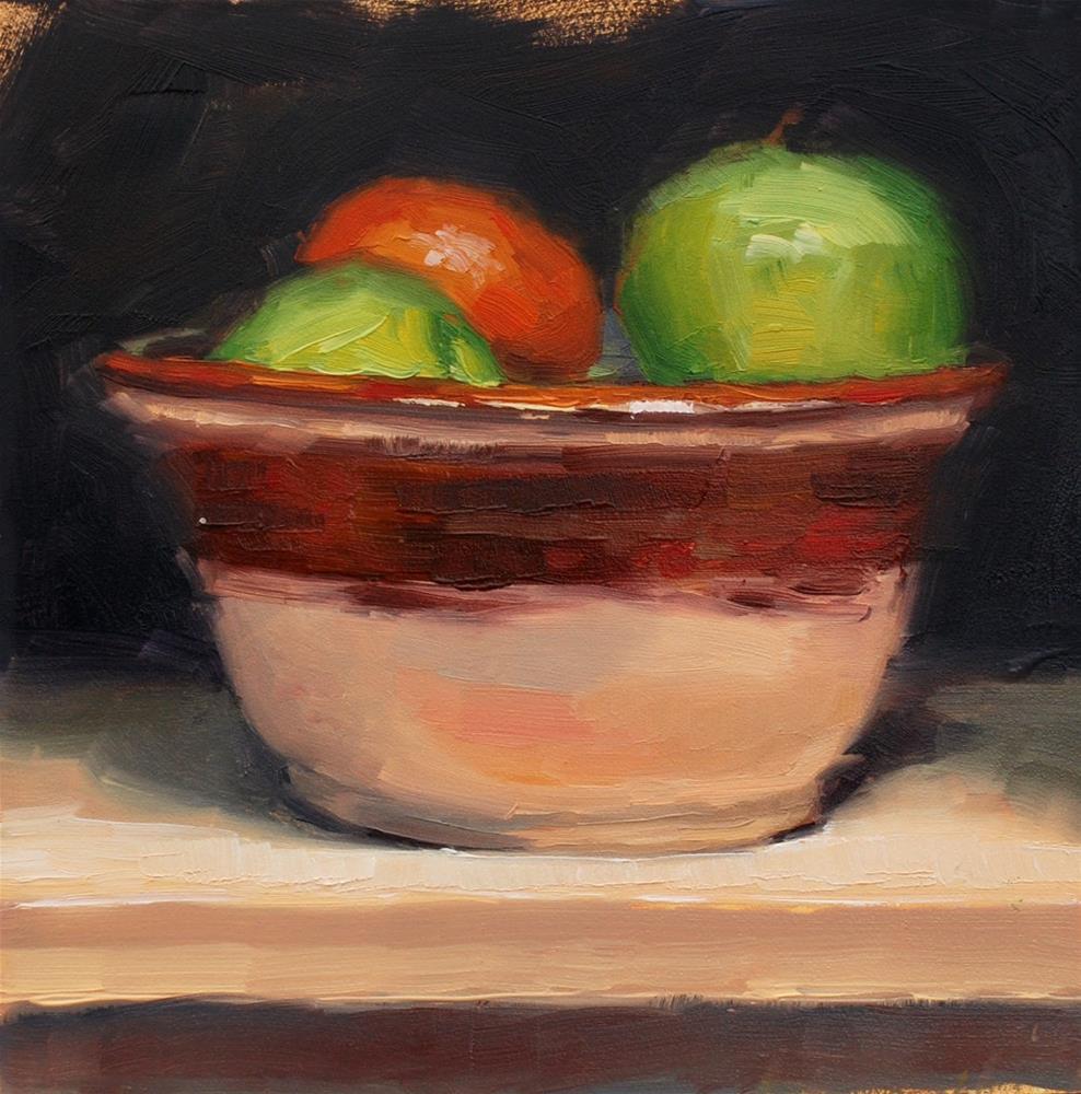 """No. 721 My Mom's Bowl"" original fine art by Susan McManamen"