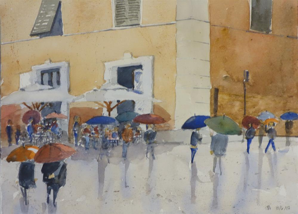 """A light rain in Pietrasanta"" original fine art by Blake Hurt"