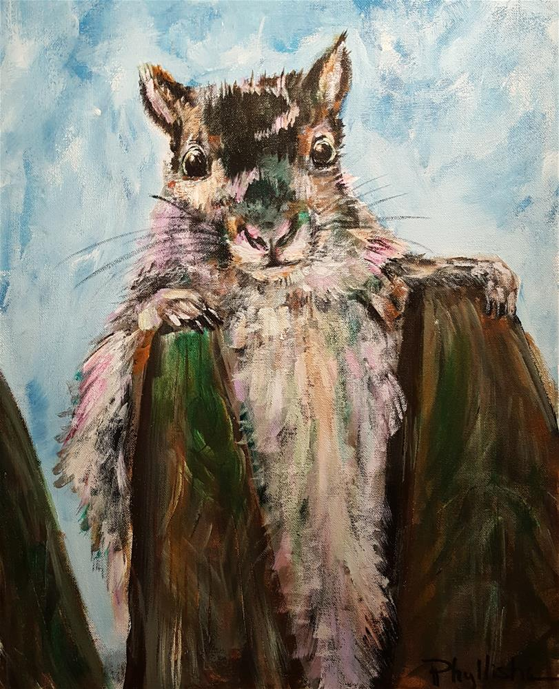 """Backyard Visitor"" original fine art by Phyllisha Hamrick"