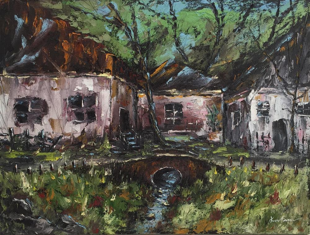 """Country Cottage II"" original fine art by Ken Fraser"