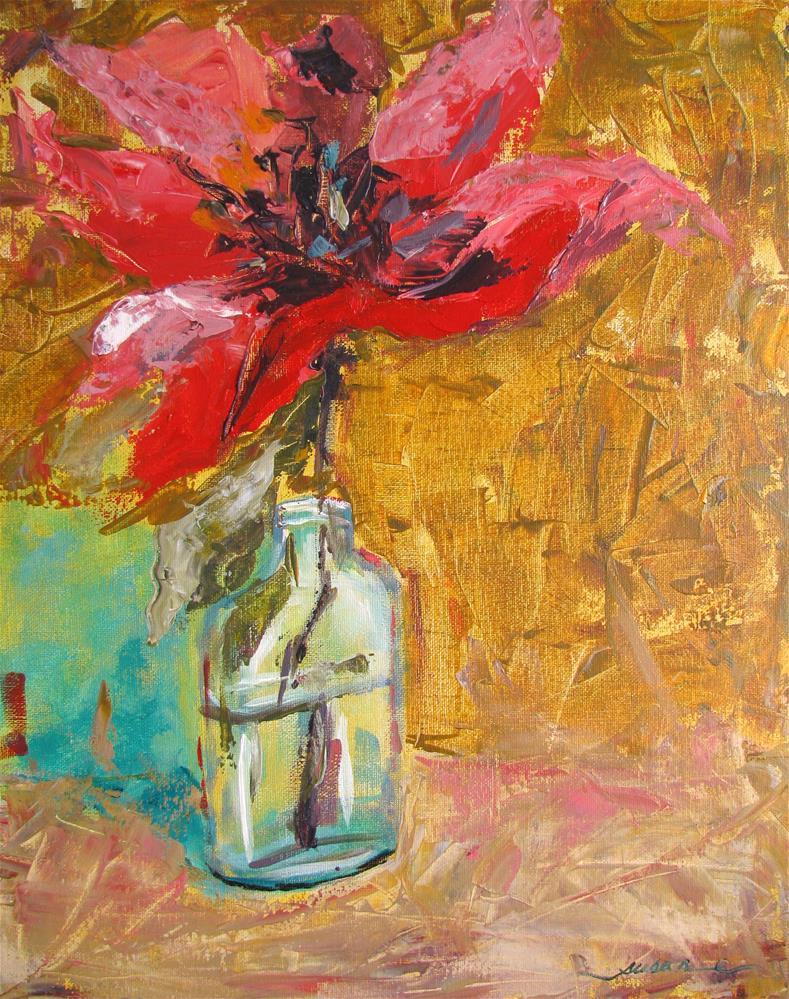 """Red Poppy"" original fine art by Susan Elizabeth Jones"