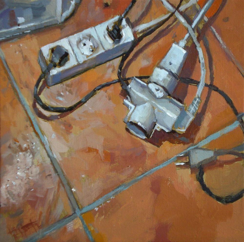 """""""Cable chaos"""" original fine art by Víctor Tristante"""