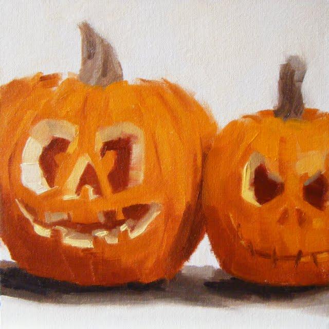 """""""Halloweened !!!"""" original fine art by Helen Cooper"""