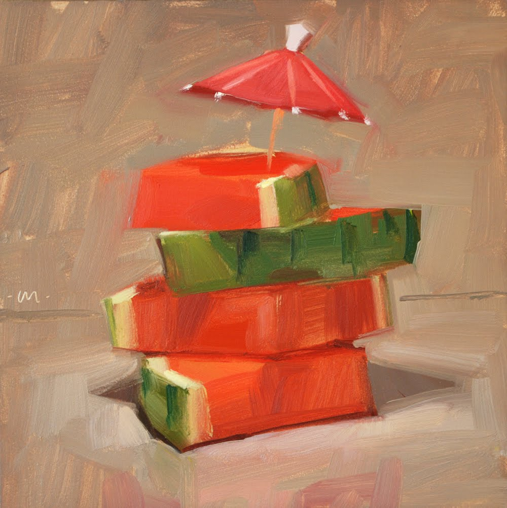 """Watermelon Holiday"" original fine art by Carol Marine"