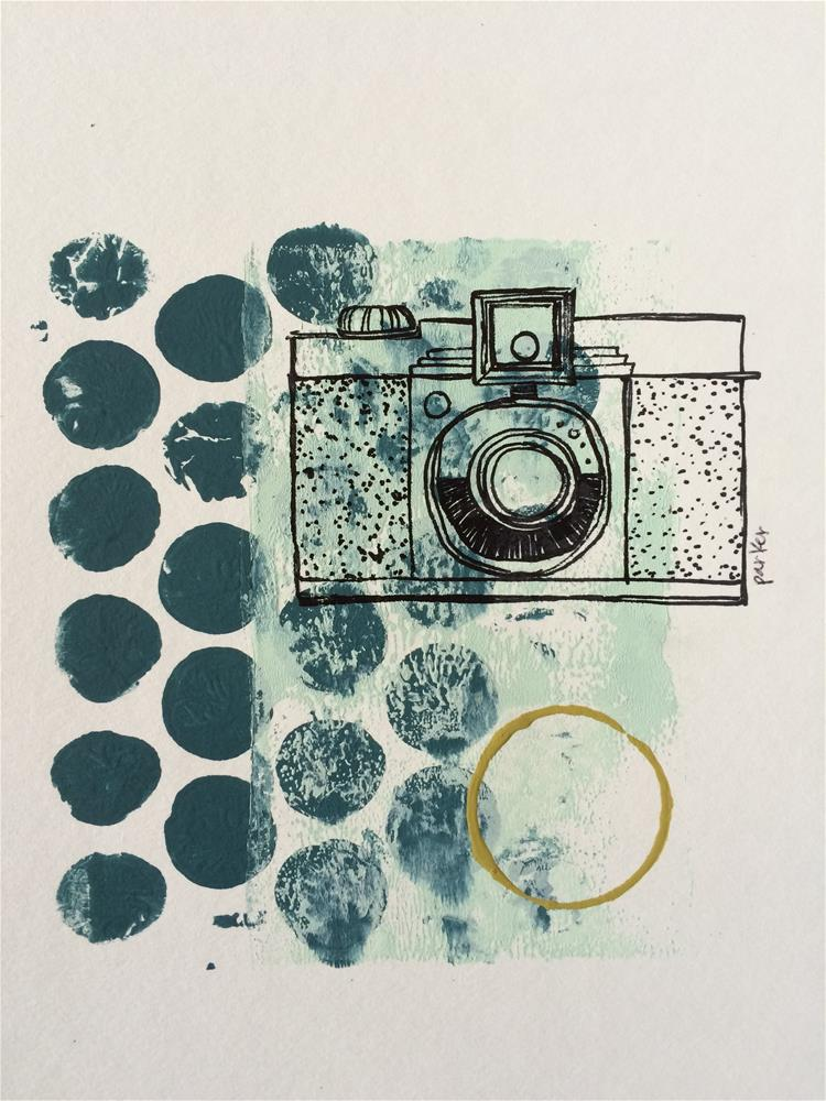 """Vintage Camera Print"" original fine art by Teddi Parker"