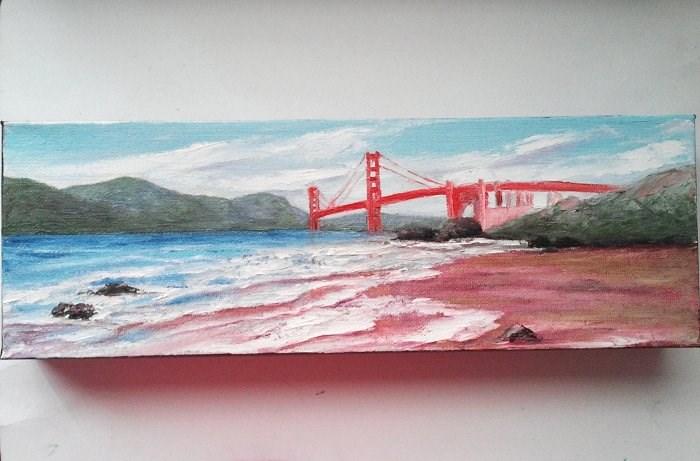 """Golden Gate Bridge"" original fine art by Camille Morgan"
