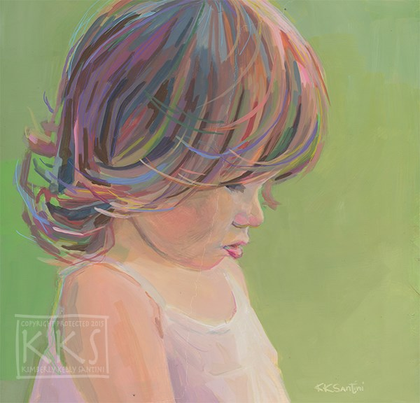 """Avery"" original fine art by Kimberly Santini"
