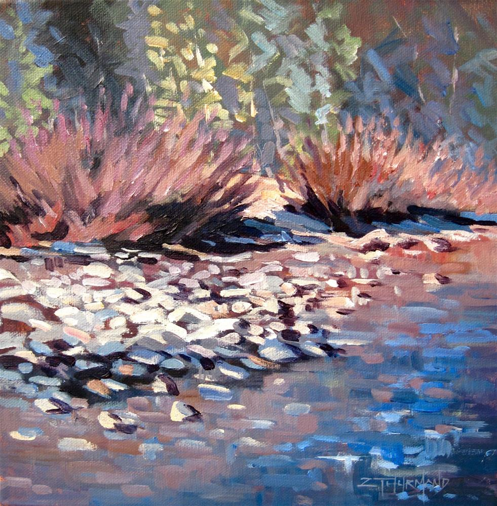"""""""Wood River Bank"""" original fine art by Zack Thurmond"""