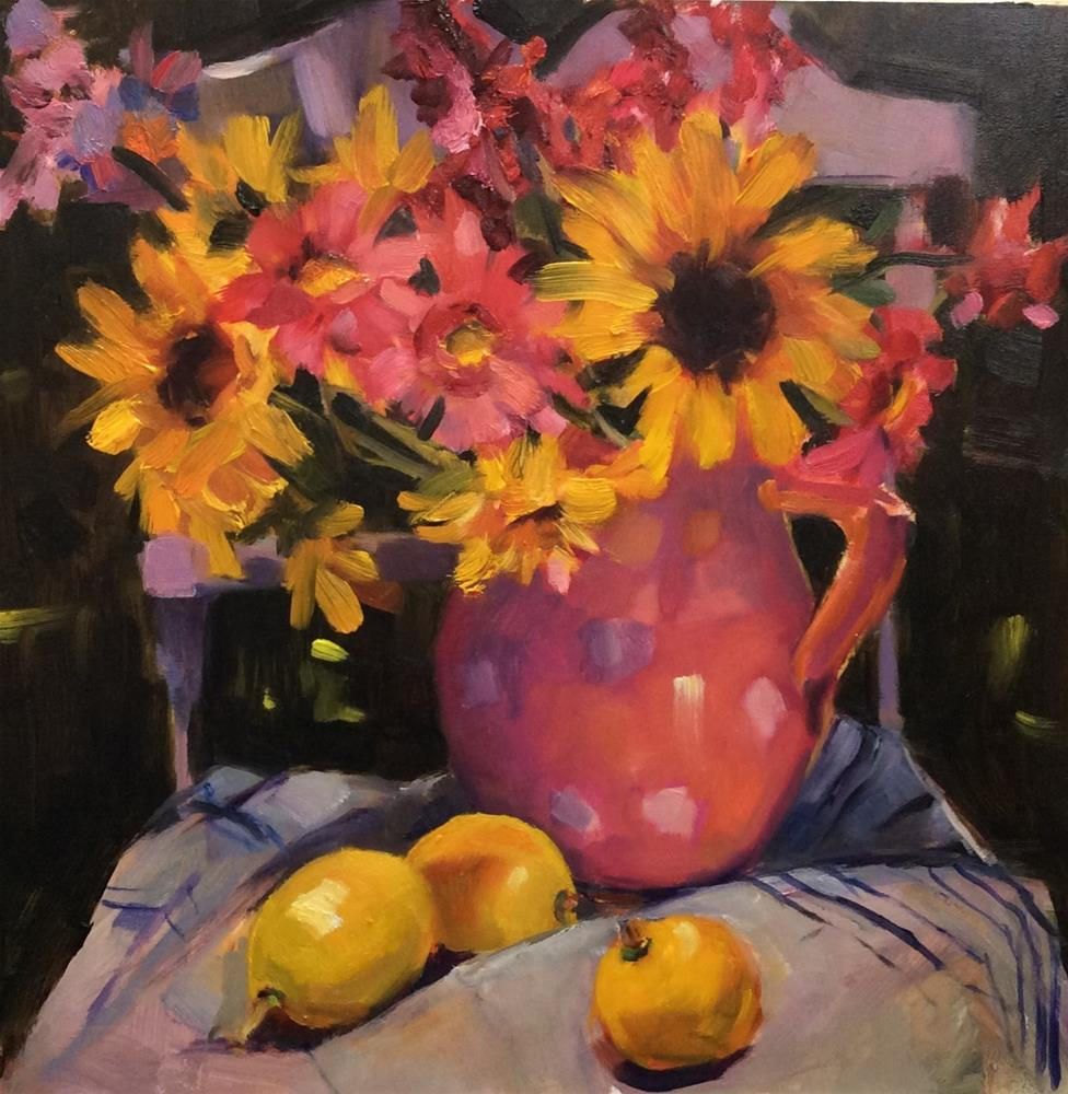 """Painting at Milfiori"" original fine art by Laurie Johnson Lepkowska"