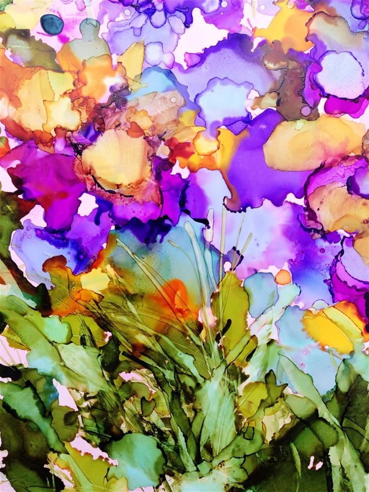 """""""Abstract Floral"""" original fine art by Kelly Alge"""