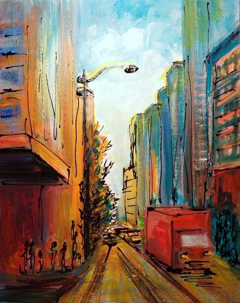 """5003 - City Light"" original fine art by Sea Dean"