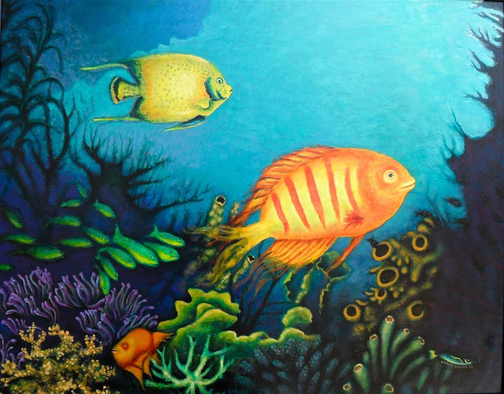 """Among the Coral"" original fine art by Karen Roncari"