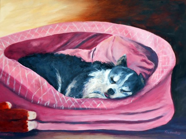 """Exhausted"" original fine art by Kim Harding"