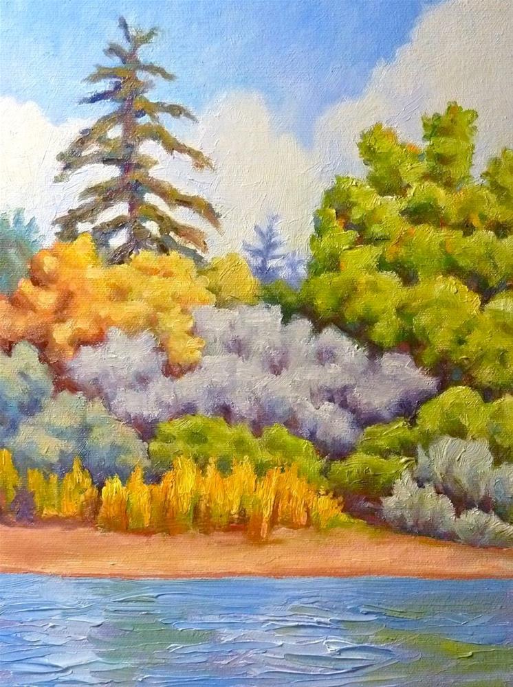 """Riverbank"" original fine art by Mark Allison"