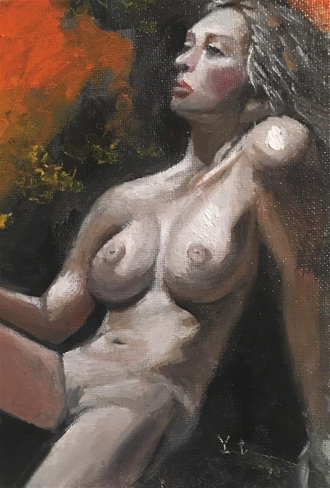 """""""Nude 1"""" original fine art by tian yin"""